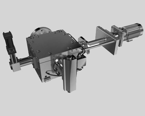 Automatic mesh belt screen changers for recycling process